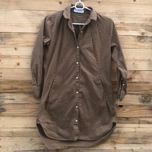Everlane | Brown Twill Shirtdress size 00